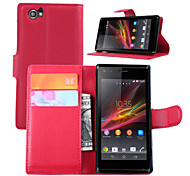 Fashion Leather Dirt-resistant Flip Wallet Cover Case For Sony Xperia M C1905 Capa Phone Case