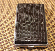 Cigarette Case 20 Metal Leather Decorative Surface