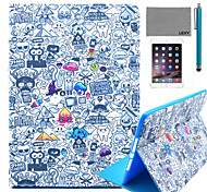 LEXY® Cartoon Graffiti Pattern PU Leather Flip Stand Case with Screen Protector and Stylus for iPad Mini 4