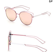Sunglasses Women's Modern / Fashion Browline Silver / Gold Sunglasses Full-Rim