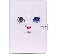 lexy® il modello bianco gatto può caso del basamento del cuoio di vibrazione con la protezione dello schermo e lo stilo per ipad mini
