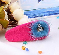 YW Sweet PlushCrown Barrettes(9Colors)