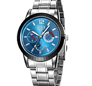 Men's  Watch BOSCK  Blue Black Blue Light Blue Waterproof Black Circle Quartz Watch