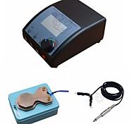 fttattoo® kit de alimentación del tatuaje digital con pedal de pie clip de cable de enchufe de salida doble