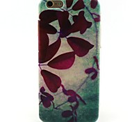 Leaves Pattern TPU Soft Cover for iPhone 6/6S