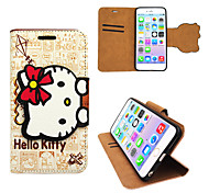 Iphone 6 plus PU leather cover Disney Hello Kitty white with a free Headfore HD Screen Protector for iPhone 6+