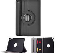 cwxuan ™ caso pu protetora rotativo w / slots de stand / cartão / sleep auto para iPad mini 4