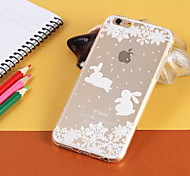 Snow and Ice Rabbit Pattern TPU Material Cellphone Case for iPhone 6/6S