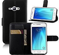 Luxury Wallet PU Leather Full Body Case with Card Slot and Stand for Case for Samsung Galaxy J1 Ace (Assorted Colors)