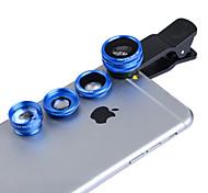 Apexel 4 in 1 Clip 2X Telephoto,Fisheye,Macro & 0.65X Wide Lens for Samsung Galaxy S7/Note5 Series Phones