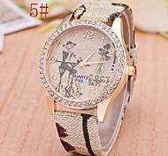 L.WEST Fashion High-end Diamonds Quartz Watch