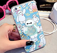 LADY®Elegant Mobile Luminuse Case/Cover for iphone 6/6s(4.7), with Silicone Material and Cartoon Style