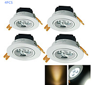 3W Luci a sospensione 3 LED ad alta intesità 300 lm Bianco caldo / Luce fredda Decorativo AC 220-240 / AC 110-130 V 4 pezzi