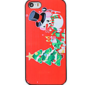 Christmas Style Cute Snowman Pattern PC Hard Back Cover for iPhone 5/5S