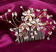 Charming Wedding Bride Handmake Pearls Pearl Combs Hair Accessior Flower Gold Combs Luxurious