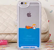 Three-Dimensional Penguin Aircraft Pattern Transparent PC Material Phone Case for iPhone 6 /6S