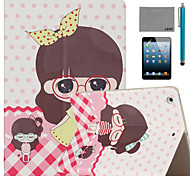LEXY® Beautiful Dress Pattern PU Leather Flip Stand Case with Screen Protector and Stylus for iPad Mini 4