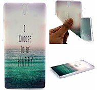 I Choose To Be Happy Words Phrase Pattern 0.6mm Ultra-Thin Soft Case for Sony C5