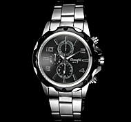 Men's Casual Silver Alloy Quartz Wrist Watch