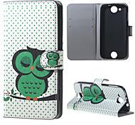Für Acer Hülle Geldbeutel / Kreditkartenfächer / mit Halterung / Flipbare Hülle / Muster Hülle Handyhülle für das ganze Handy Hülle Eule