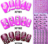8pcs  Watermark Stickers Random Color