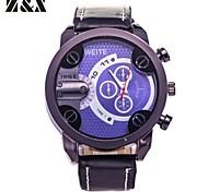 Men's Fashion Quartz Analog Leather Sport Bracelet Watch(Assorted Colors)