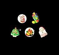 la novedad LED intermitente nocturna centellante, navidad, santa, muñeco de nieve, ciervos, árbol