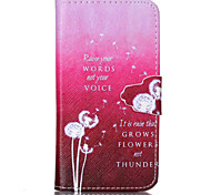 Pink Dandelion Pattern PU Leather Full Body Cover with Stand for Sony Xperia Z3 Compact