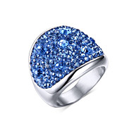 Z&X® Fashion Rhinestone Titanium Wedding Steel Ring Statement Rings Party / Daily / Casual 1pc