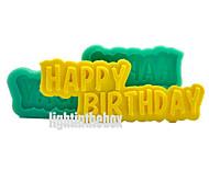 Счастливый день рождения DIY силиконовый шоколад пудинг сахар ледяной торт плесень цвет случайный