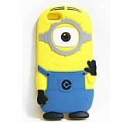 3D Yellow People Soft silica Phone Case For iPhone 5/5S