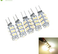 5 x G4 / MR11/ GU4 / GZ4  2W 25x3528SMD Warm White / White 160LM Led Light Bulbs (DC 12V)