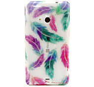 Colored Feathers Pattern Glitter TPU Cell Phone Soft Shell For Nokia Lumia N535 / Microsoft Lumia 535