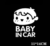 Funny Baby in Car Car Sticker Car Window Wall Decal Car Styling