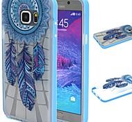 2-in-1 campanula blauen Federn Muster TPU rückseitige Abdeckung mit pc Autostoßfest Hülle für Samsung Galaxy Note 5