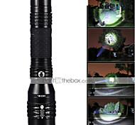 LED Taschenlampen LED 5 Modus 1200 Lumen Wasserdicht / Wiederaufladbar / Stoßfest / Schlag-Fassung / Taktisch / Notfall / Zoomable-Cree