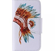 Mayan totem Pattern Cell Phone Leather For iPhone 4/4S