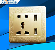 USB CHARGING SOCKET WELL (N7G CARVED GOLDEN GLOBAL UNLVERSAL)