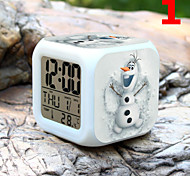 High Quality Creative Colorful Small Alarm Clock LED Electronic Gifts / Cartoon Alarm Clock