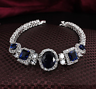 Classic Noble 18K Gold Diamond Zircon Stone Bracelet Charm Bracelets For Woman