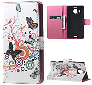 Butterfly Circles Wallet PU Leather Stand Case for  Microsoft Nokia Lumia 950XL N950XL