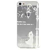 caso de la cubierta de alivio TPU patrón de amor luz para el iphone 5 5s / iphone