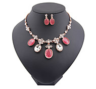 New fashion trendy gold plated (necklace,earrings)jewelry sets