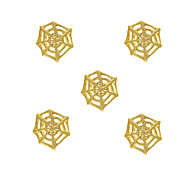 10pcs Spider Web Charm 3D Metal Alloy 7mm x8mm Nail Art Decoration