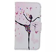 menina dança pintado caso de telefone pu para Huawei honra 7