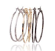 Simple Style Glaze Loops  Earrings Set(3 Pairs Per Set)