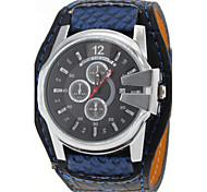 JUBAOLI Herren Armbanduhr Quartz Kalender PU Band Weiß Blau Rot Orange Weiß Orange Rot Blau