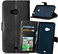 PU cuir carte portefeuille titulaire de luxe reposer le couvercle rabattable avec étui de cadre photo pour Nokia Lumia 625 (couleurs