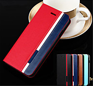 For OnePlus Case Card Holder / with Stand / Flip Case Full Body Case Solid Color Hard PU Leather One Plus