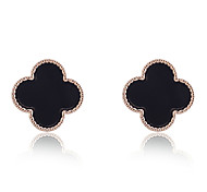 Korean Fashion Gold Plated Love Clover Earrings